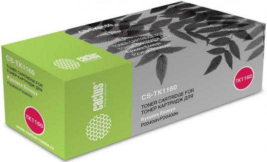 Картридж Cactus CS-TK1160 черный (7200стр.) для Kyocera Ecosys P2040dn/P2040dw ecosys p2040dw
