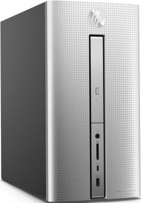 Системный блок HP Pavilion 570-p005ur i3-7100 3.9GHz 4Gb 1Tb R5 435-2Gb DVD-RW Win10 клавиатура мышь серебристо-черный 1ZP81EA