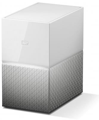 Сетевое хранилище Western Digital My Cloud Home Duo 2x3,5 WDBMUT0060JWT-EESN сетевое хранилище western digital my cloud home 4tb wdbvxc0040hwt eesn