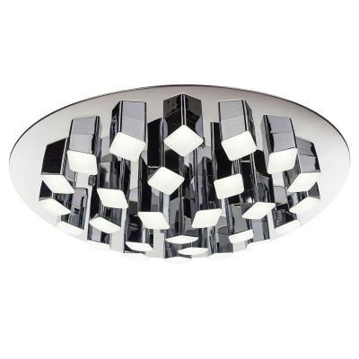 Потолочная светодиодная люстра с пультом ДУ IDLamp Colosseo 306/27PF-LEDChrome цена 2017