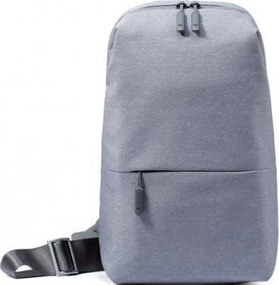 Рюкзак для планшета 8.3 Xiaomi Mi City Sling Bag полиэстер серый MiCitySlingBag_LightGray DSXB01RM ZGB4070GL рюкзак xiaomi mi city backpack 15 полиэстер и нейлон светло серый [zjb4066gl]