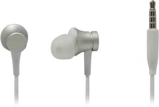 Гарнитура Xiaomi Mi In-Ear Headphones Basic серебристый original xiaomi hybrid earphone 1more mi headphones headset 2 unit in ear circle iron mixed piston 4 for iphone samsung lg htc