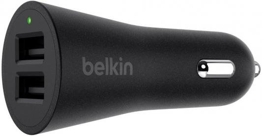 Автомобильное зарядное устройство Belkin F8J221bt04-BLK 4.8 А черный автомобильное зарядное устройство belkin f8j154bt04 blk