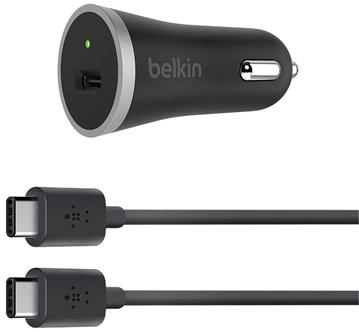 Автомобильное зарядное устройство Belkin F7U005bt04-BLK USB-C 3А черный