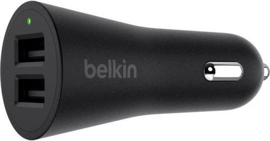 Автомобильное зарядное устройство Belkin F8M930btBLK 2 х USB 2.4А черный автомобильное зарядное устройство buro tj 201b 2 х usb 4 8 а черный