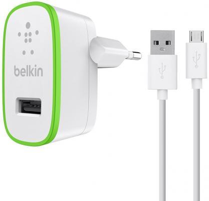 Сетевое зарядное устройство Belkin F8M886vf04-WHT microUSB 2.4А белый сетевое зарядное устройство belkin f8j125vf04 wht 2 4а 8 pin lightning белый