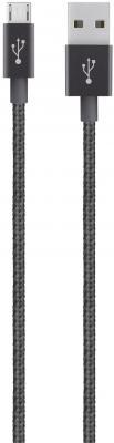 Кабель microUSB 1.2м Belkin Mixit Metallic круглый F2CU021bt04-BLK