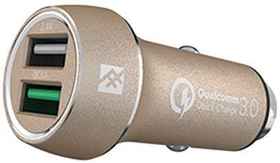 Автомобильное зарядное устройство iFrogz Unique Sync Dual IFUSCH-GD0 USB 2.4А золотой