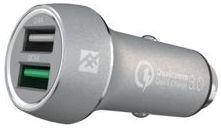 Автомобильное зарядное устройство iFrogz Unique Sync Dual IFUSCH-SV0 USB 2.4А серебристый