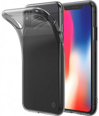 Накладка LAB.C Slim Soft для iPhone X прозрачный чёрный LABC-197-BK чехол для iphone interstep для iphone x soft t metal adv красный