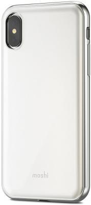Накладка Moshi iGlaze для iPhone X белый 99MO101101 стоимость
