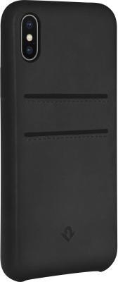 Накладка Twelve South Relaxed Leather для iPhone X чёрный 12-1736 чехол twelve south bookbook для iphone 5 в спб
