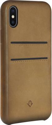 Накладка Twelve South Relaxed Leather для iPhone X коричневый 12-1737 чехол twelve south bookbook для iphone 5 в спб