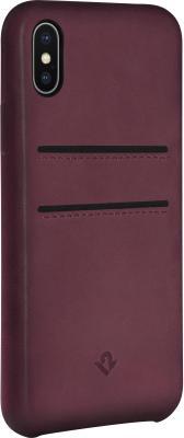 Накладка Twelve South Relaxed Leather для iPhone X бордовый 12-1738 чехол twelve south bookbook для iphone 5 в спб