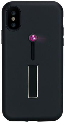 цена на Накладка Bling My Thing SelfieLOOP с кристаллами Swarovski для iPhone X чёрный ipx-lp-bk-fus
