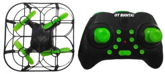 Квадрокоптер на радиоуправлении От Винта Fly-0252 Profi пластик, металл от 6 лет черно-зеленый 87246 квадрокоптер parrot bebop drone 2 белый