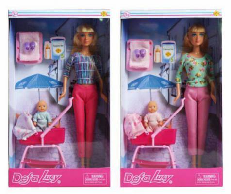 Кукла Defa Lucy Прогулка с коляской, 2 куклы, в ассорт., кор. куклы и одежда для кукол defa lucy кукла с аксессуарами 26 см
