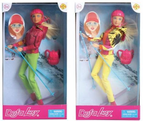 Кукла DEFA LUCY Лыжница 29 см шарнирная кукла defa lucy с крыльями 29 см