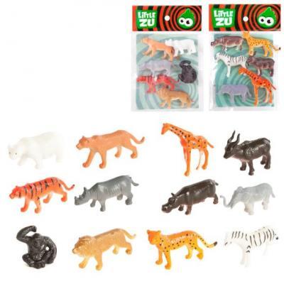 Набор фигурок Little Zu Дикие животные 6 см набор фигурок little zu динозавры 90050в