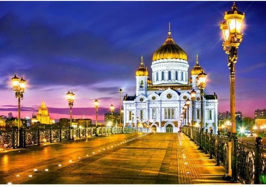 Пазл Кастор Храм Христа Спасителя, Москва 1000 элементов пазл кастор озеро канада 1000 элементов