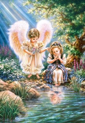Купить Пазл Кастор Ангел с девочкой 1500 элементов, Пазлы-картины