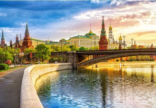 Пазл Кастор Набережная, Москва 1000 элементов пазл кастор озеро канада 1000 элементов