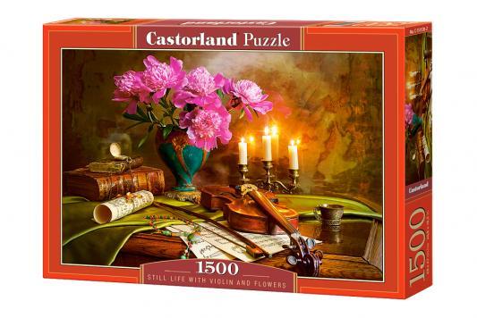 Пазл Кастор Натюрморт-скрипка и цветы 1500 элементов пазлы castorland пазл черные лебеди 1500 элементов