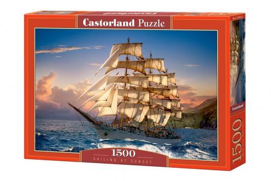 Купить Пазл Кастор Парусник на закате 1500 элементов, Пазлы-картины