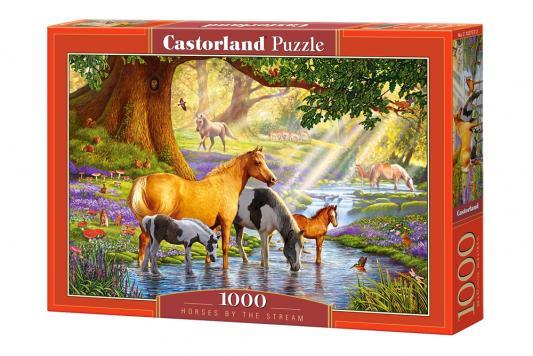 Купить Пазл Кастор Лошади на реке 1000 элементов, Пазлы-картины