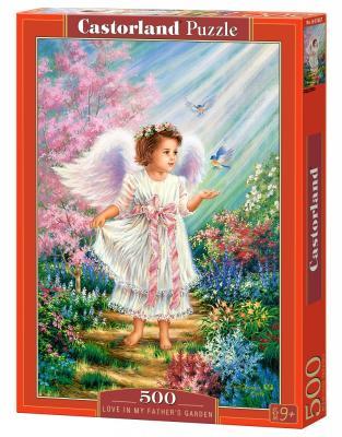 Купить Пазл Кастор Ангел в саду 500 элементов, Пазлы-картины