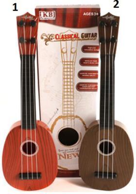 Гитара 40 см в ассорт., пласт., кор. игрушка shantou gepai гитара 941731 7237