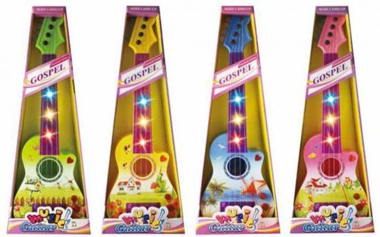 Гитара Концерт, 56см, свет, звук, в ассорт., батар.в компл.не вх., кор. игрушка shantou gepai гитара 941731 7237