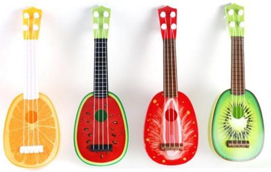 Гитара Фрукты 35 см, в ассорт., пласт., пакет. игрушка канатная mrpet восьмерка с мячем цвет желтый красный 25 см