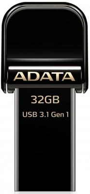 Флешка USB 32Gb A-Data AI920 AAI920-32G-CBK черный acosun md916 lcd display data hold digital paper moisture meter