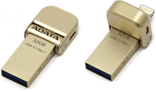Флешка USB 32Gb A-Data AI920 AAI920-32G-CGD золотистый цена и фото