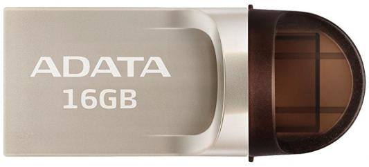 Флешка USB 16Gb A-Data UC370 USB 3.1/Type-C AUC370-16G-RGD золотистый cy u3 199 wh usb 3 0 type c male to type a male data cable