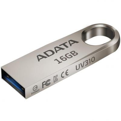 Флешка USB 16Gb A-Data UV310 USB 3.0 AUV310-16G-RGD золотистый bside btha01 temperature humidity data logger usb w built in probe sound light alarm large display