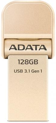 Флешка USB 128Gb A-Data AI920 USB 3.1/Lightning AAI920-128G-CGD золотистый usb data