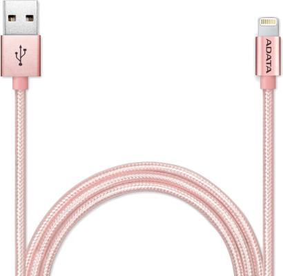 Кабель Lightning 1м A-Data круглый AMFIAL-100CMK-CRG кабель usb a data amfial 100cmk crg 1м amfial 100cmk crg