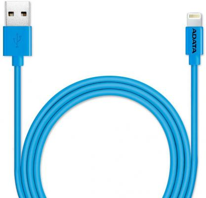 Кабель Lightning 1м A-Data круглый AMFIPL-100CM-CBL кабель для ipod iphone ipad adata amfipl 100cm cbk