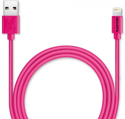 Кабель Lightning 1м A-Data круглый AMFIPL-100CM-CPK кабель для ipod iphone ipad adata amfipl 100cm cbk
