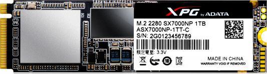 Твердотельный накопитель SSD M.2 1Tb A-Data SX7000 Read 1750Mb/s Write 850Mb/s PCI-E ASX7000NP-1TT-C