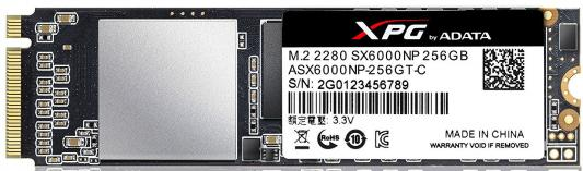 Твердотельный накопитель SSD M.2 256Gb A-Data SX6000 Read 1000Mb/s Write 800Mb/s PCI-E ASX6000NP-256GT-C s t a m p s часы
