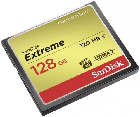 Карта памяти Compact Flash Card 128Gb SanDisk SDCFXSB-128G-G46 карта памяти compact flash card 128gb sandisk vpg 65 udma 7 sdcfxps 128g x46
