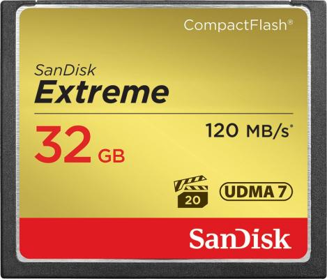 Карта памяти Compact Flash Card 32Gb SanDisk SDCFXSB-032G-G46