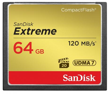 Карта памяти Compact Flash Card 64Gb SanDisk SDCFXSB-064G-G46 карта памяти compact flash card 128gb sandisk vpg 65 udma 7 sdcfxps 128g x46