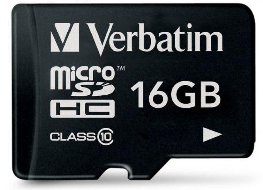 Карта памяти Micro SDHC 16GB Class 10 Verbatim 44010