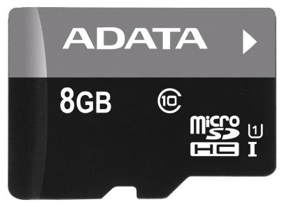 Карта памяти Micro SDHC 8Gb Class 10 UHS-I A-Data AUSDH8GUICL10-R