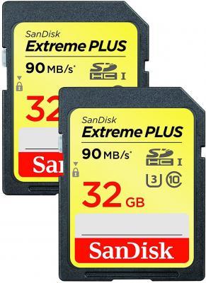 Карта памяти SDHC 32Gb Class 10 Sandisk SDSDXWF-032G-GNCI2 2шт securedigital 32gb sandisk extreme pro sdhc class 10 uhs i u3 sdsdxxg 032g gn4in