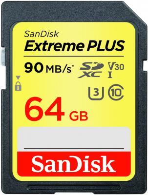 Карта памяти SDXC 64Gb Class 10 Sandisk SDSDXWF-064G-GNCIN securedigital 64gb sandisk extreme pro sdxc class 10 uhs i v30 u3 sdsdxve 064g gncin